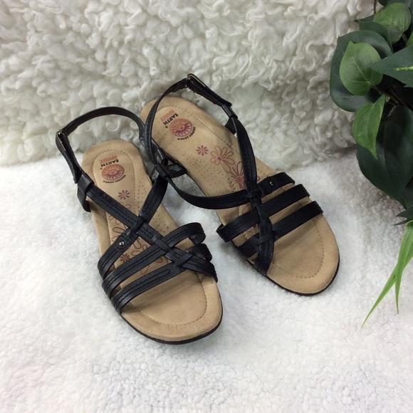 Earth Spirit Shoes   Black Sandals Size